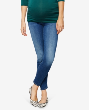 7 For All Mankind Maternity Medium Wash Skinny Jeans