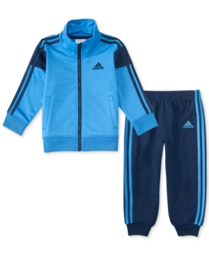 adidas 2-Pc. Full-Zip Track Jacket & Pants Set, Toddler Boys (2T-5T)