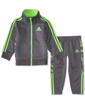 adidas 2-Pc. Camo Track Jacket & Pants Set, Little Boys (4-7)