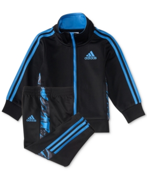 adidas 2-Pc. Camo-Trim Jacket & Pants Set, Baby Boys (0-24 months)